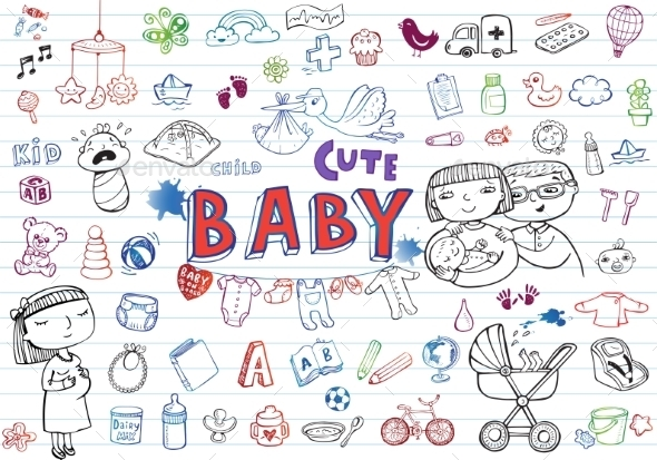 GraphicRiver Infant Icon Set 11114539