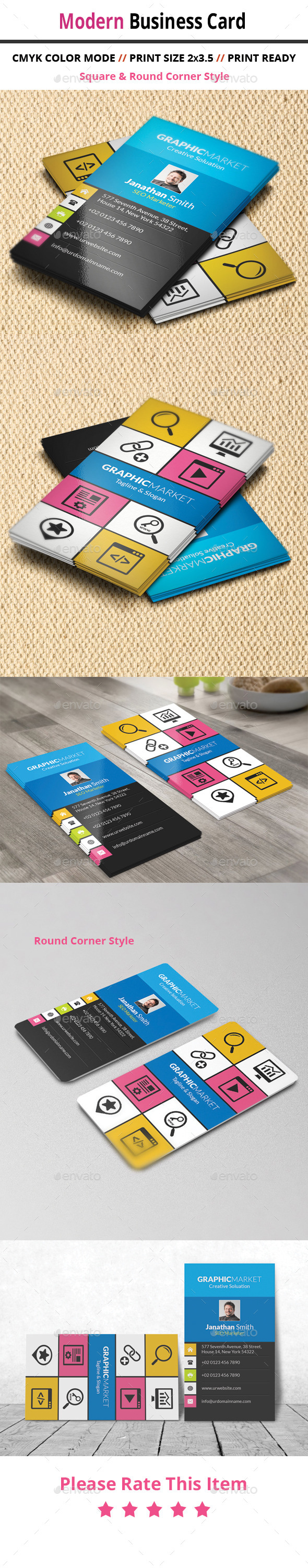 GraphicRiver Modern Business Card 11114604