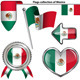 Glossy Icons with Flag of Mexico - GraphicRiver Item for Sale