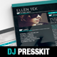 Vice: Dj / Musician OnePage Resume Template - GraphicRiver Item for Sale