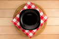 plate with napkin at cutting board on wood - PhotoDune Item for Sale