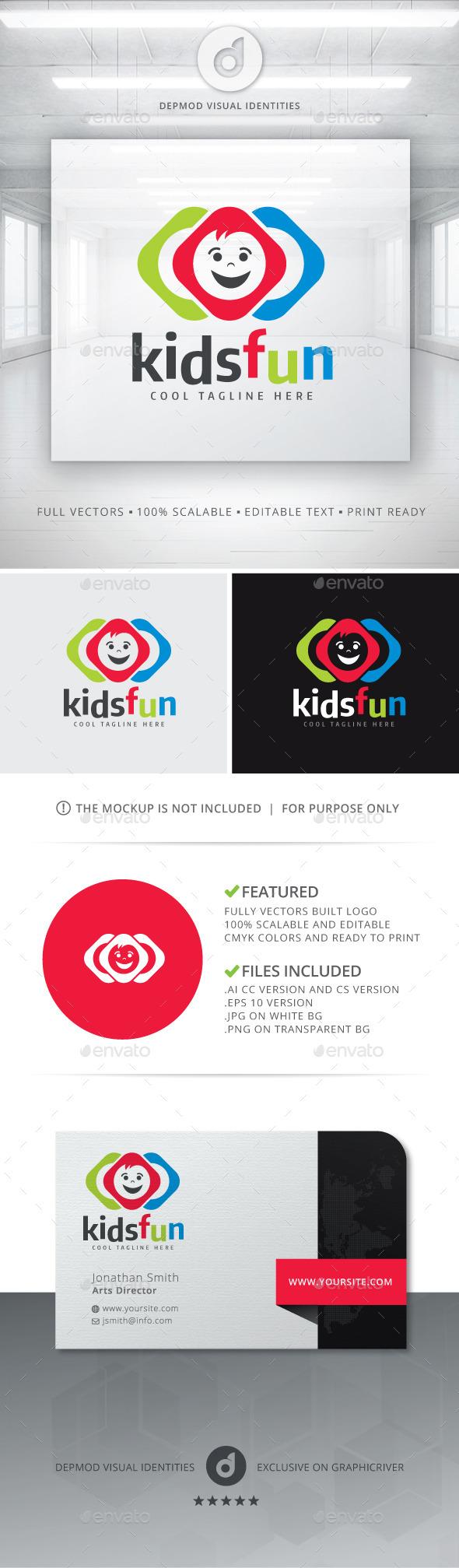 GraphicRiver Kids Fun Logo 11115621