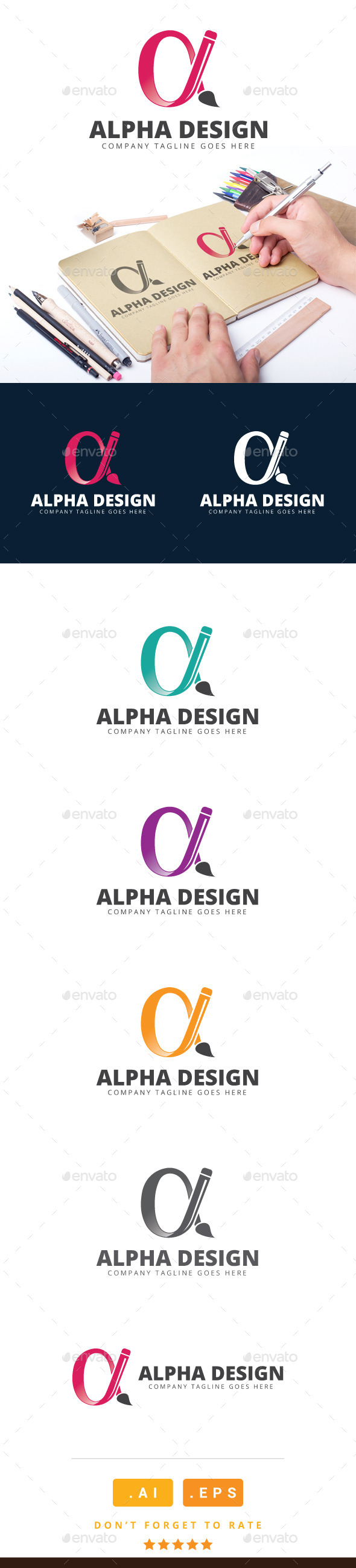 GraphicRiver Alpha Design Logo 11115709