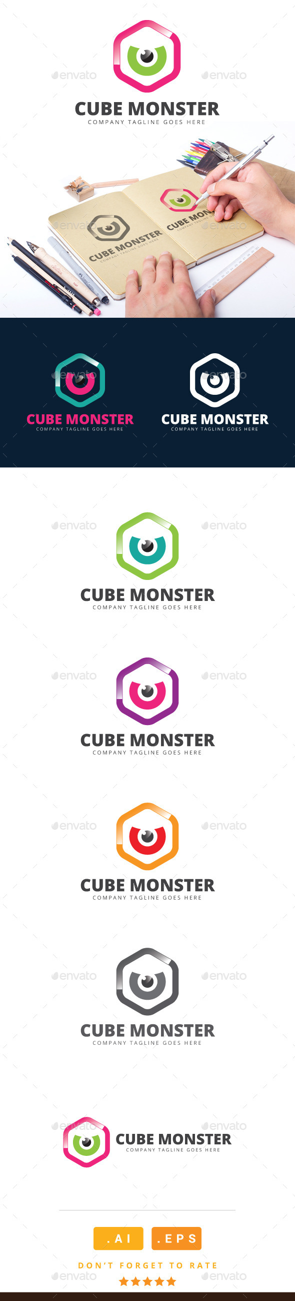 GraphicRiver Cube Monster Logo 11115866