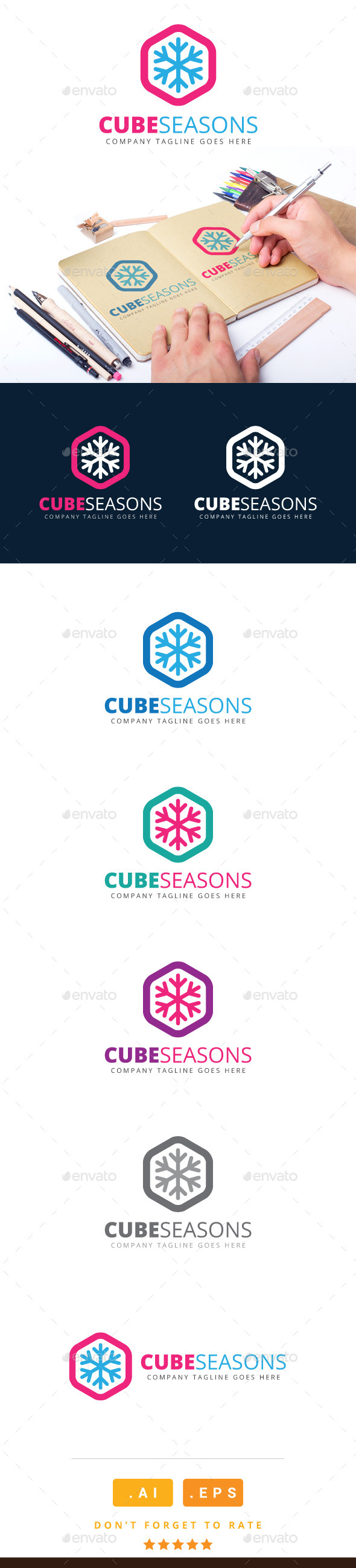 GraphicRiver Cube Seasons Logo 11116043
