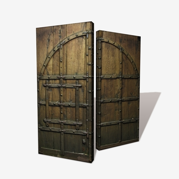 3DOcean Wooden Castle Door Low Poly 11116253