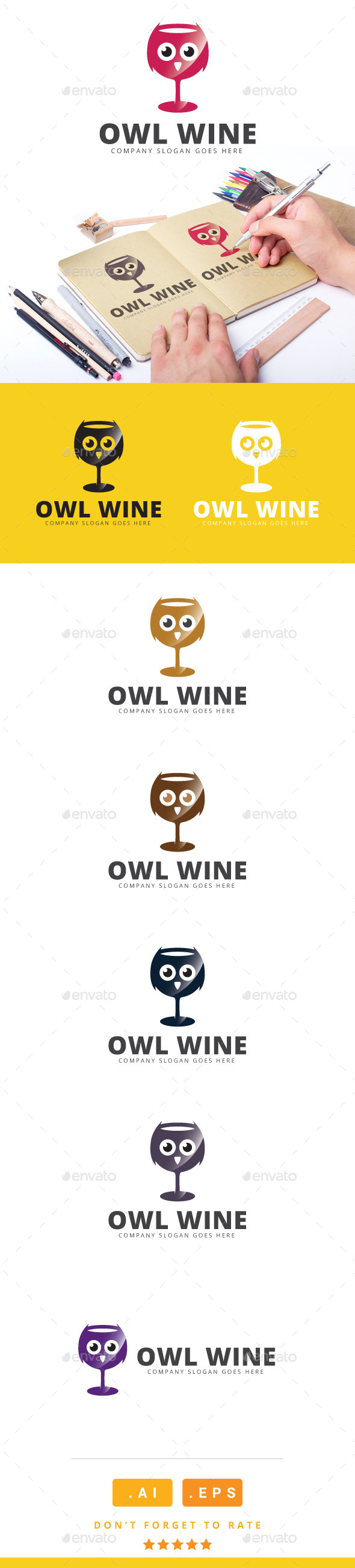GraphicRiver Owl Wine Logo 11116261