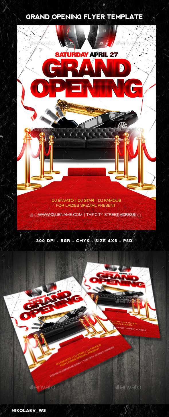 GraphicRiver Grand Opening Flyer 11116310
