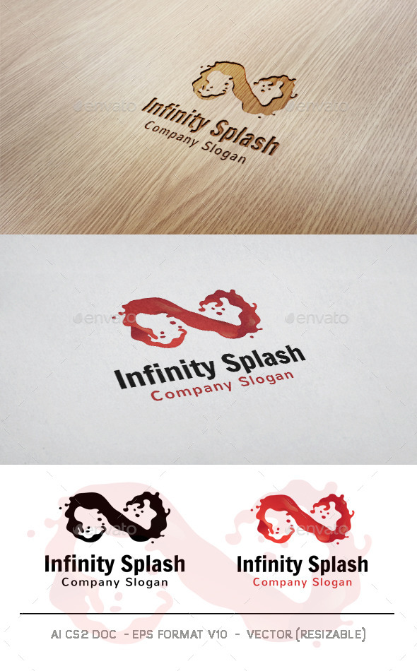 GraphicRiver Infinity Splash Logo 11116526