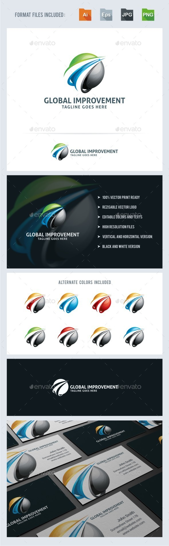 GraphicRiver Global Improvement Logo Template 11116658