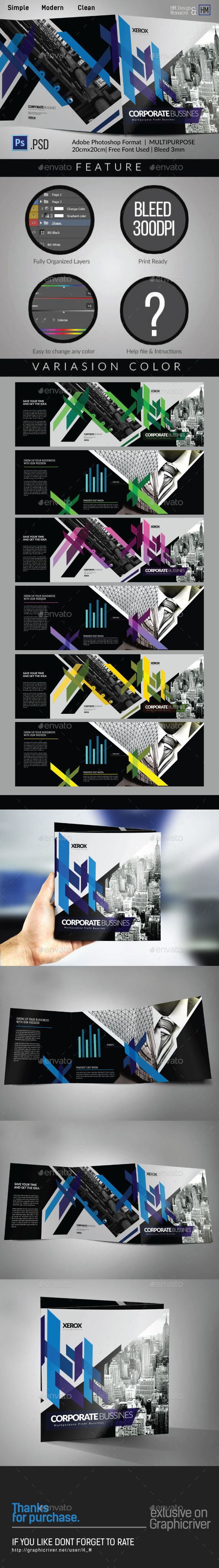 GraphicRiver SQUARE MODERN ARCHITECTURE TRI-FOLD 11116690