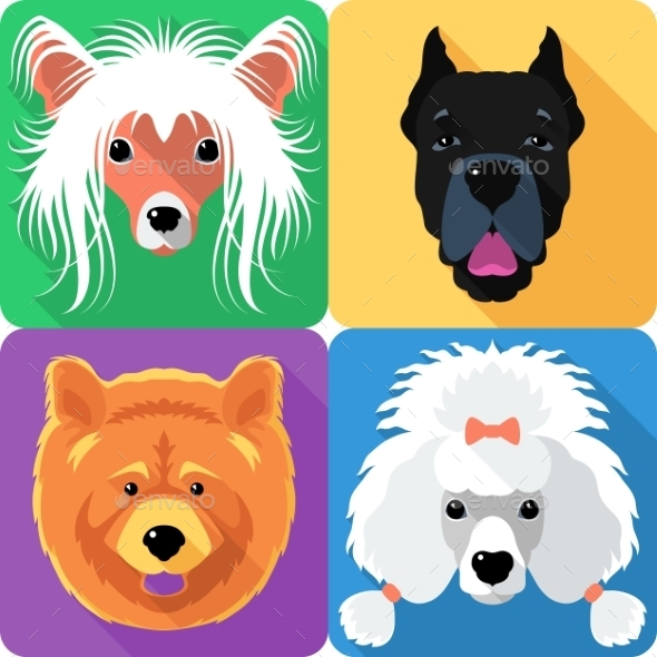 GraphicRiver Dog Avatars 11116850