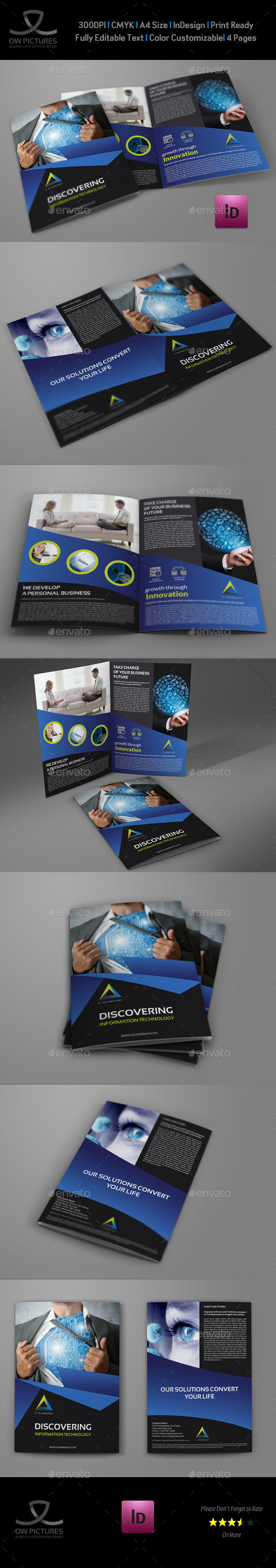 GraphicRiver IT Company Brochure Bi-Fold Template 11118150