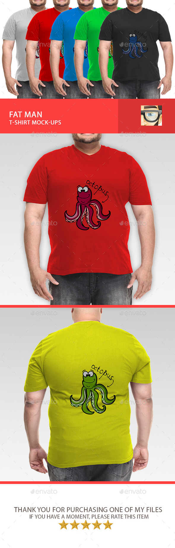 GraphicRiver Fat Man T-Shirt Mock-Ups 11118307