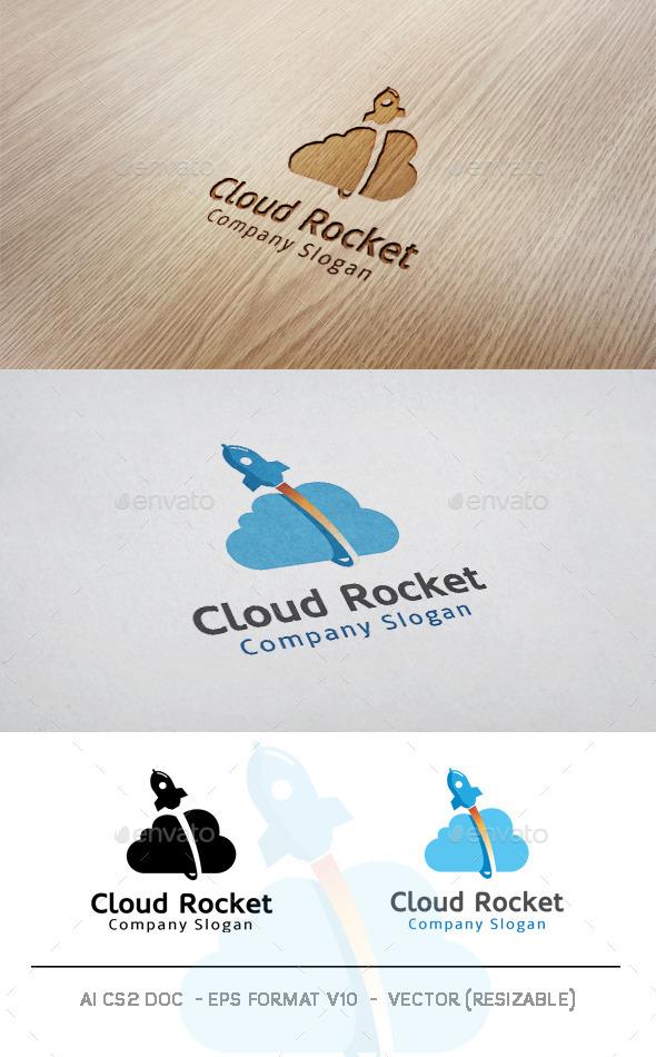 GraphicRiver Cloud Rocket Logo 11118398