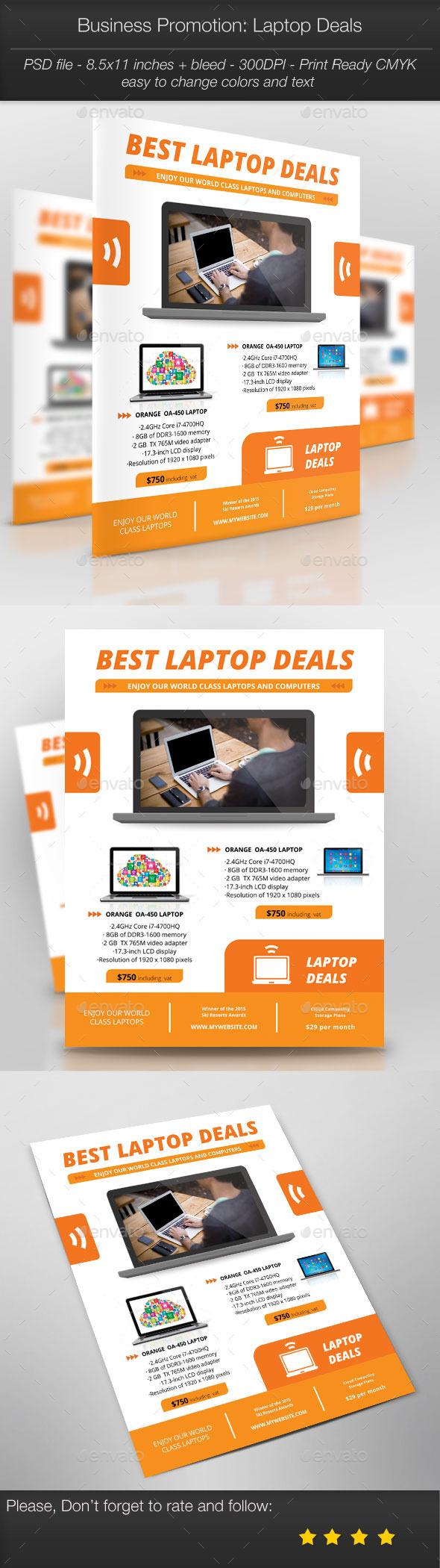 GraphicRiver Business Promotion Laptop Deals 11118403