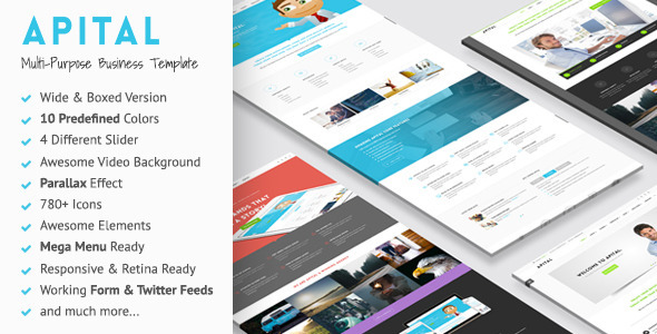 ThemeForest Apital Multi-Purpose Business HTML5 Template 11056157
