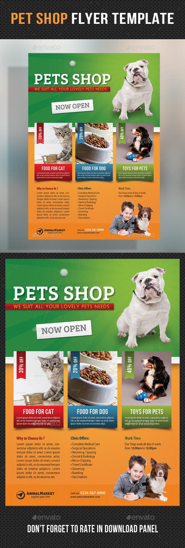 GraphicRiver Pet Shop Flyer Template 11118556