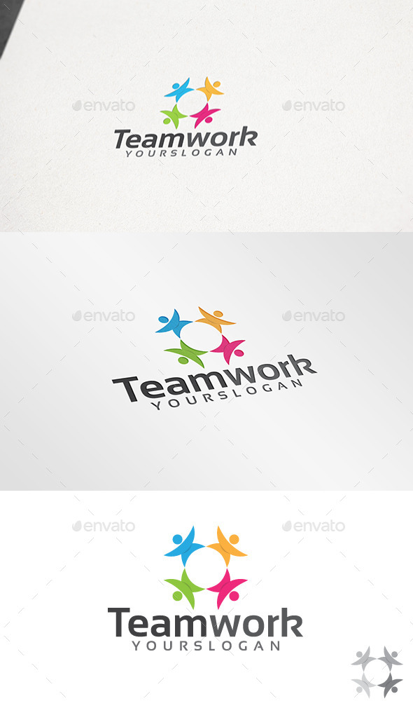 GraphicRiver Team Work Logo 11118586