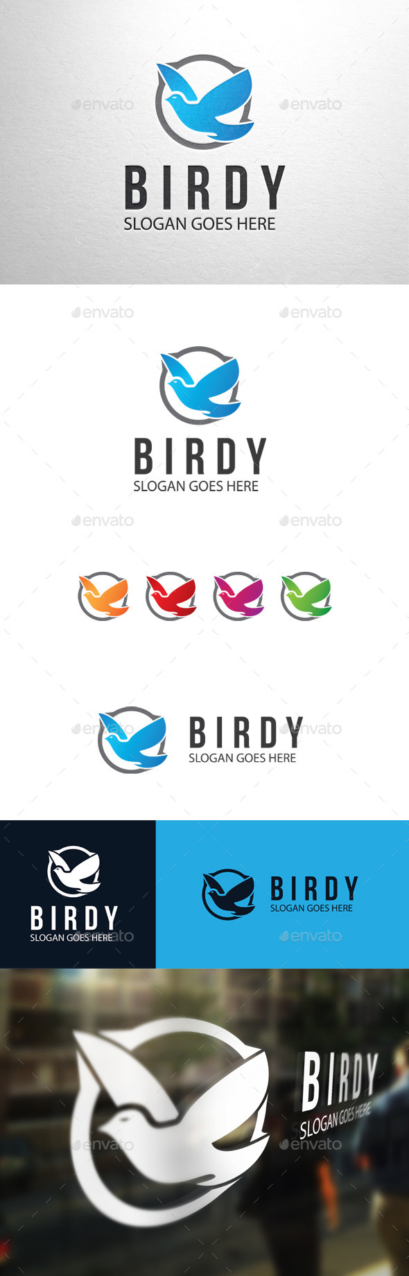GraphicRiver Birdy Bird Logo 11118806