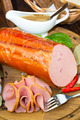 plate with sausage - PhotoDune Item for Sale