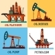 Petroleum Production and Oil Derrick Icons - GraphicRiver Item for Sale