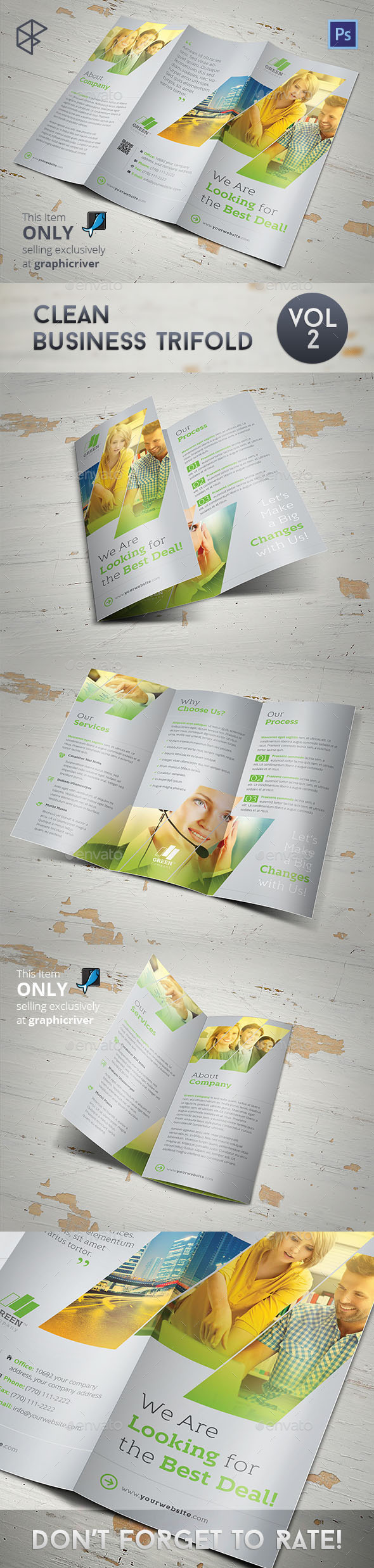 GraphicRiver Clean Business Trifold Vol 2 11118927