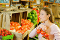 Woman shopping in an organic store - PhotoDune Item for Sale