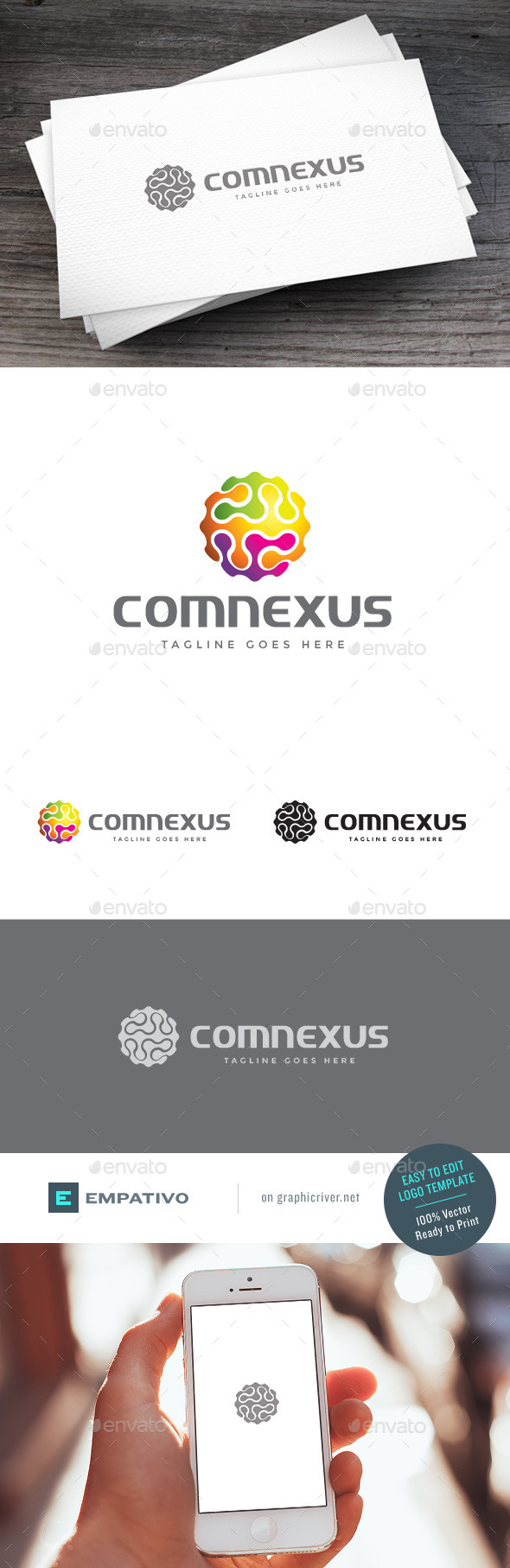 GraphicRiver Comnexus Logo Template 11118929