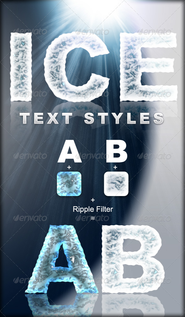 Graphic River Ice Text Styles Add-ons -  Photoshop  Styles  Text Effects 137061