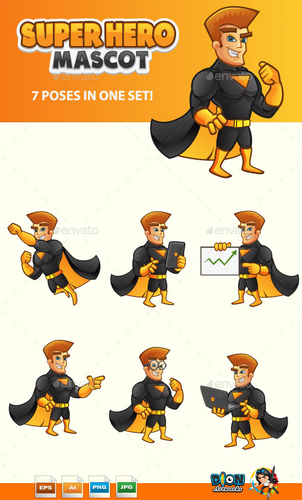 GraphicRiver SuperHero Mascot 11119022