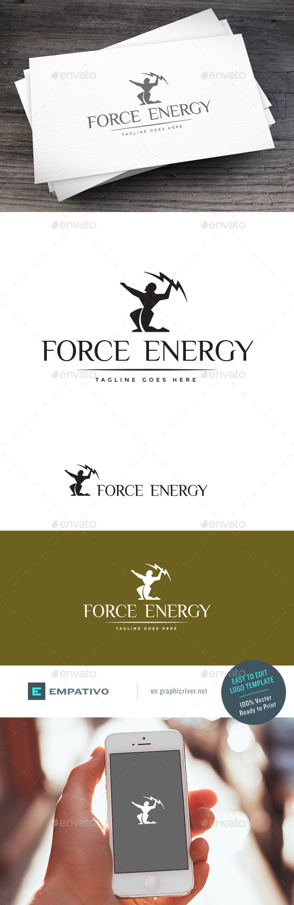 GraphicRiver Force Energy Logo Template 11119105