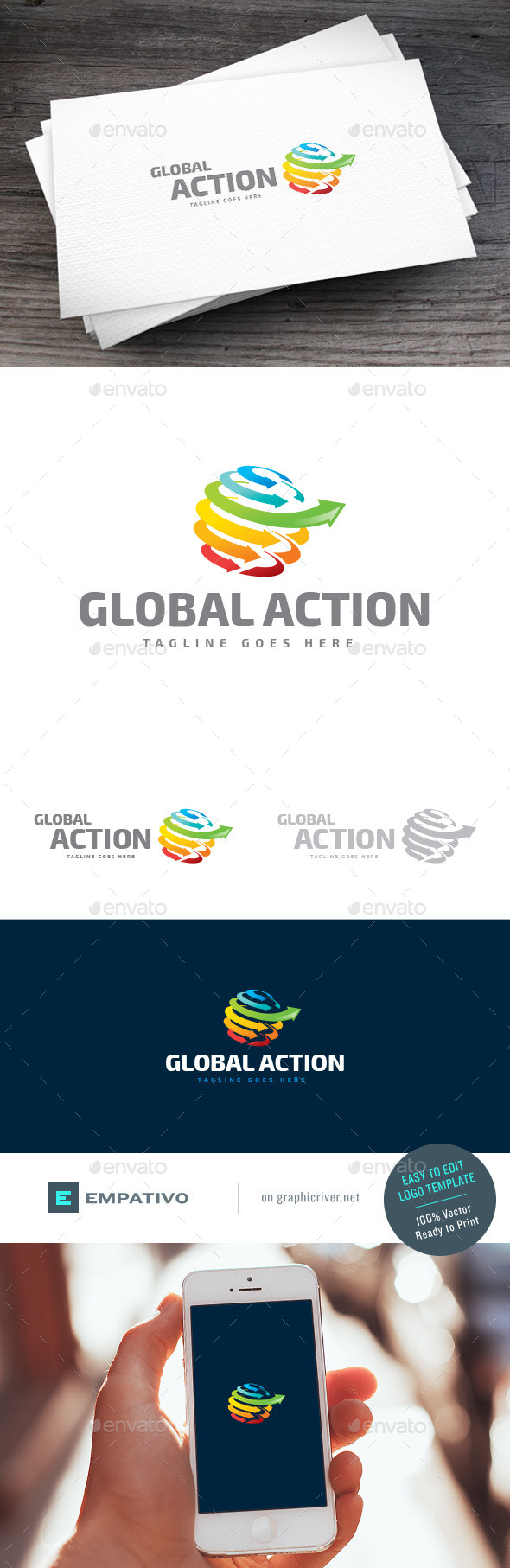 GraphicRiver Global Action Logo Template 11119107