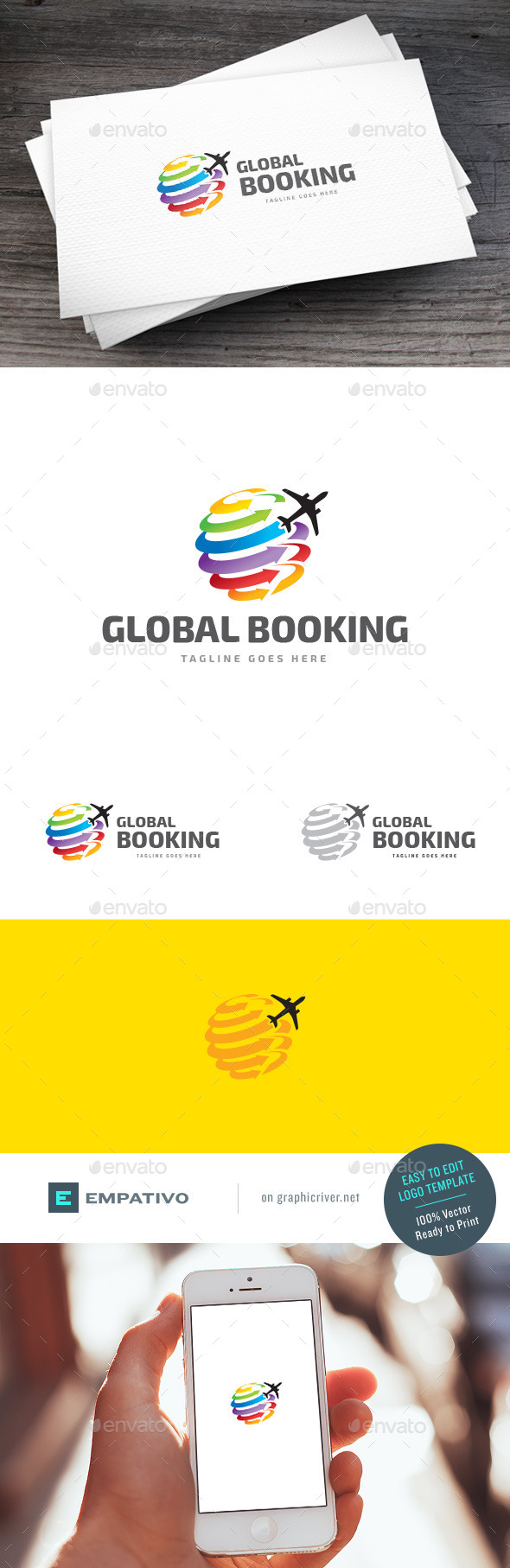 GraphicRiver Global Booking Logo Template 11119108