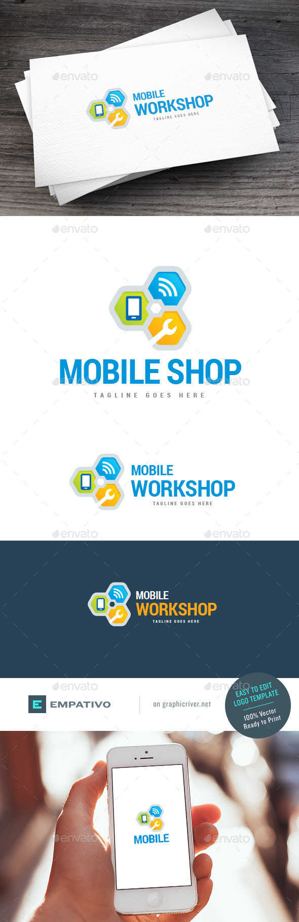 GraphicRiver Mobile Workshop Logo Template 11119200
