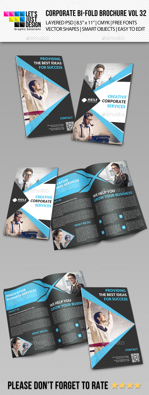 GraphicRiver Creative Corporate Bi-Fold Brochure Vol 32 11119273