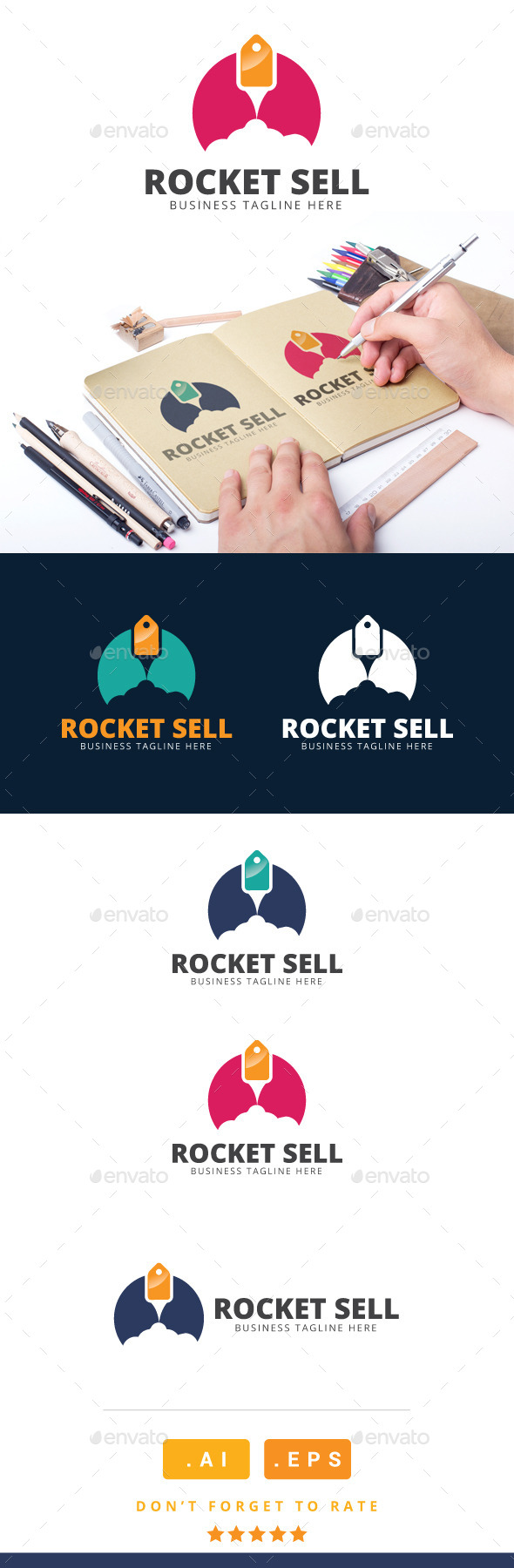 GraphicRiver Rocket Sell Logo 11119276