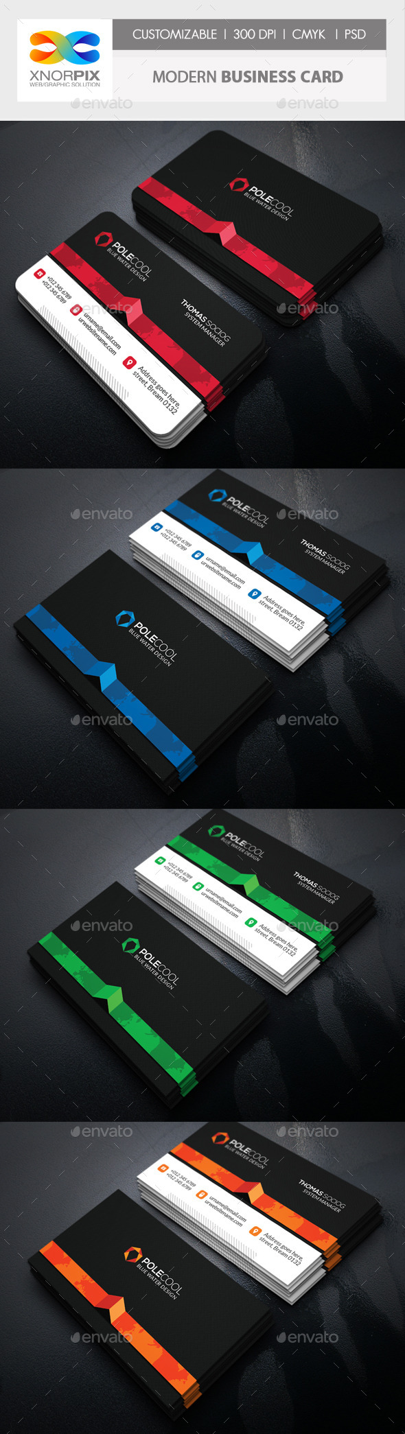 GraphicRiver Modern Business Card 11119300