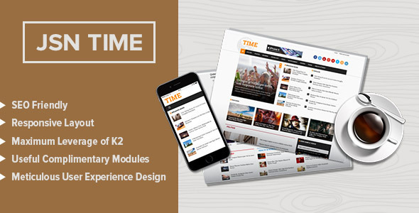 ThemeForest JSN Time Crucial UX News Template for Joomla 11119303