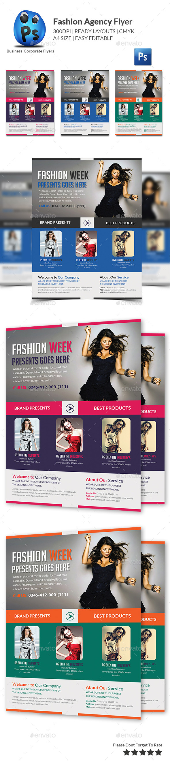 GraphicRiver Fashion Agency Flyer 11119313