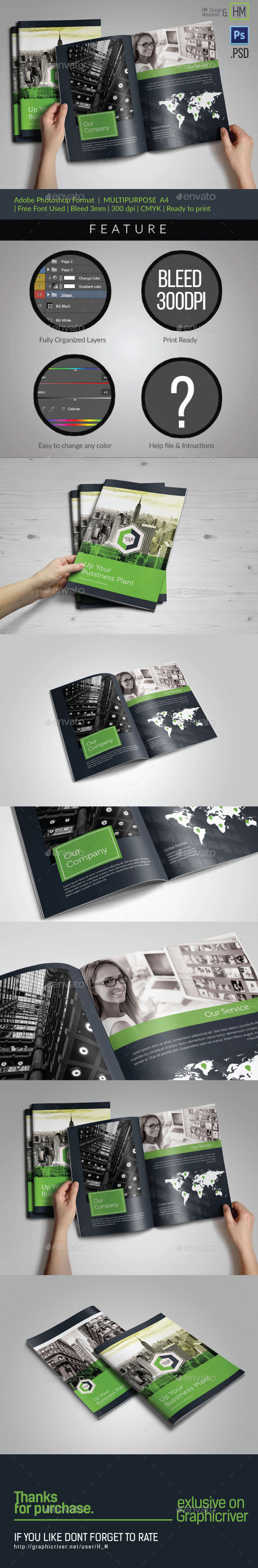 GraphicRiver Multipurpose Clean Business Brochure Bi-fold 11119337