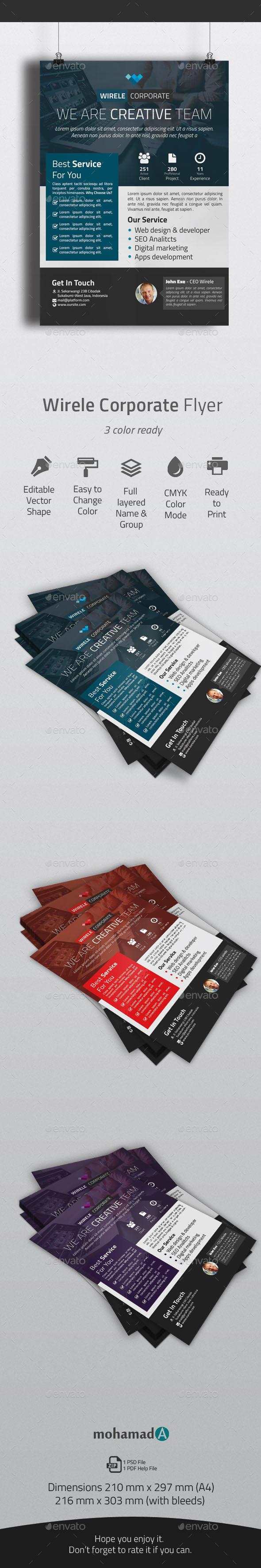 GraphicRiver Wirele Corporate Flyer 11119375