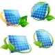Cartoon Solar Panel with Leafy Frames - GraphicRiver Item for Sale