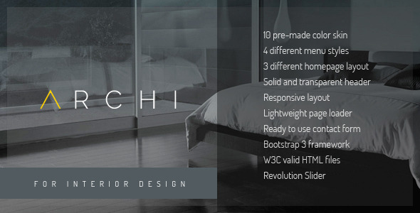 ThemeForest Archi Interior Design Website Template 10940889