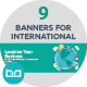 Flat Concept Banners for International Business - GraphicRiver Item for Sale