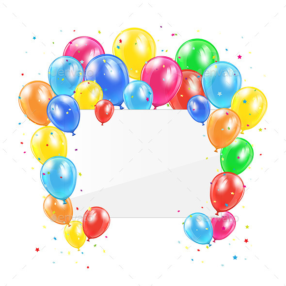 GraphicRiver Balloons and Card 11119845