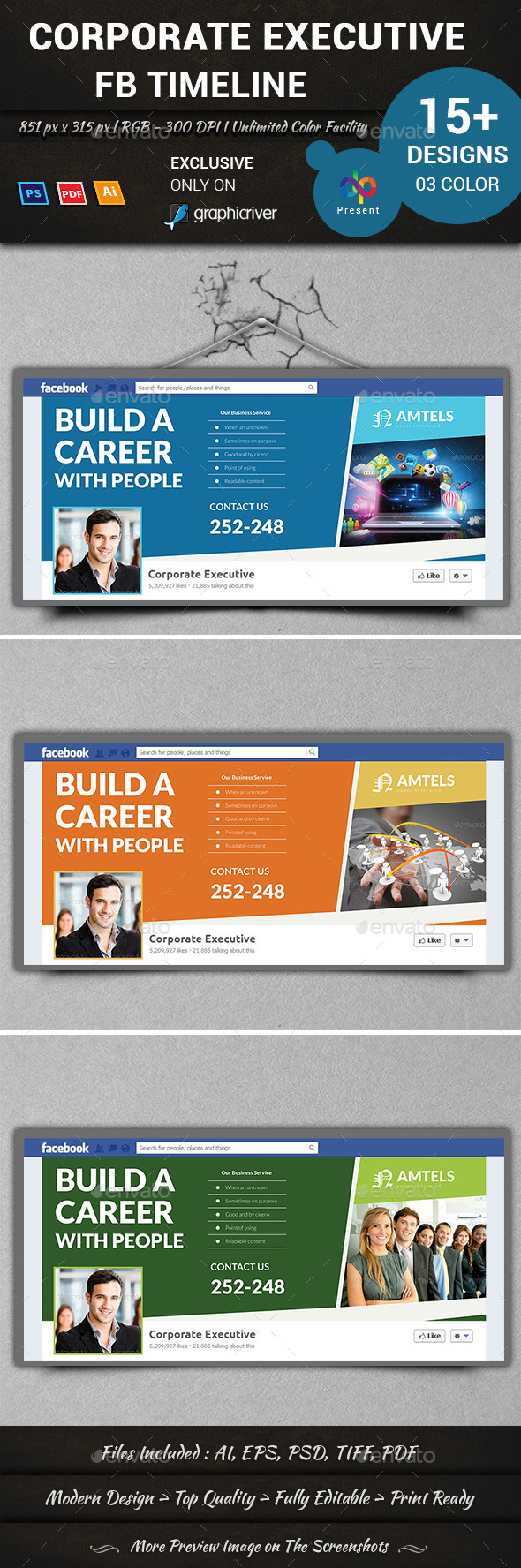 GraphicRiver Corporate Executive FB Timeline 11120006