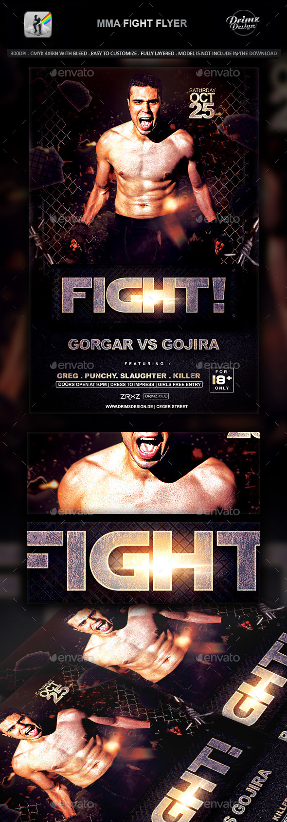 GraphicRiver MMA Fight Flyer 11120013