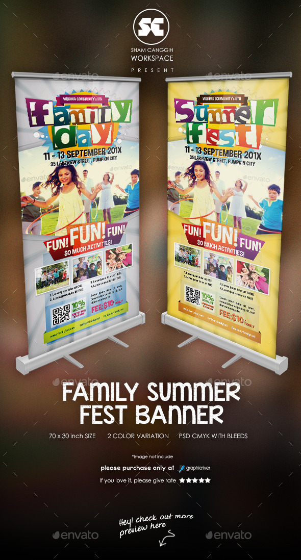 GraphicRiver Family Summer Fest Banner 11121874
