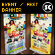 Family Summer Fest Banner - GraphicRiver Item for Sale